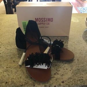 Mossimo Supply Co. Shoes - Black ankle tie Sandals- BRAND NEW!
